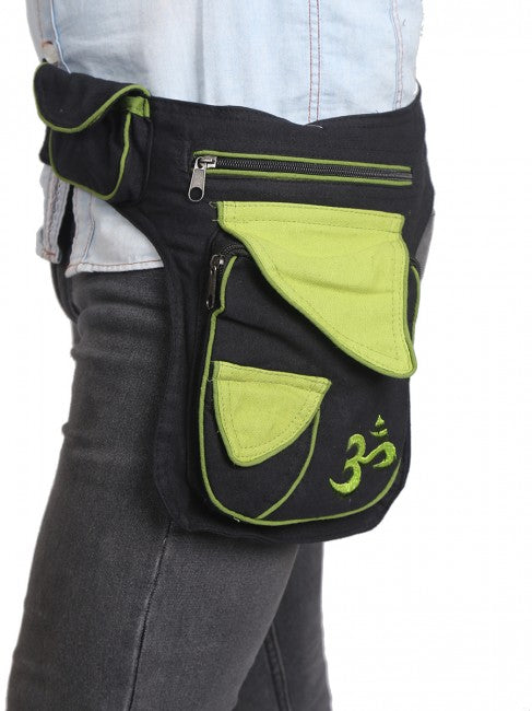 Himalaya Handmade Multi-Pocket OM Cotton Hip Pack