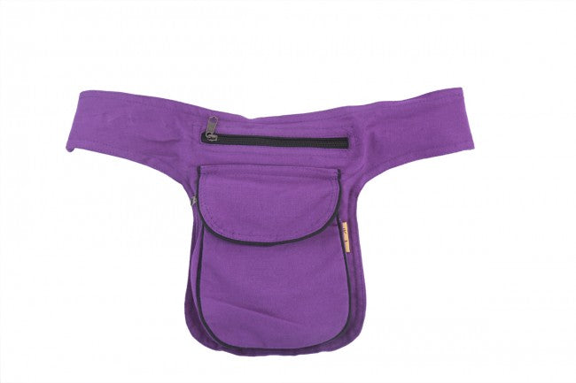 Himalaya Handmade Solid Color Cotton Hip Pack with Alternative Color Piping