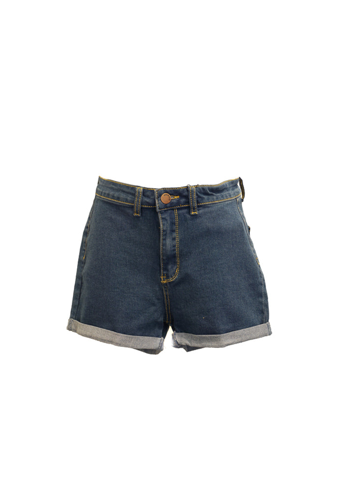 Denim Blvd Rolled Hem Shorts