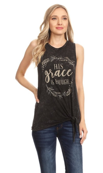 """His Grace is Enough"" Tank Top"