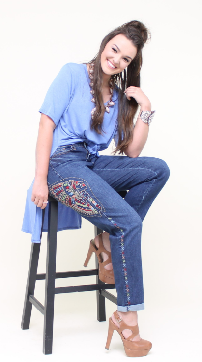 Indian Face Boyfriend Jeans