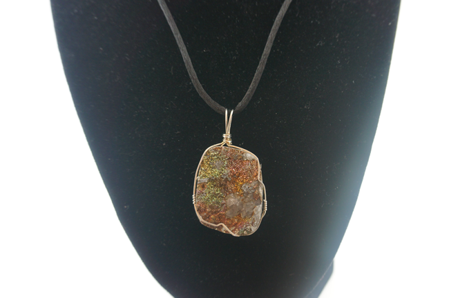 Rainbow Pyrite In Sterling Silver