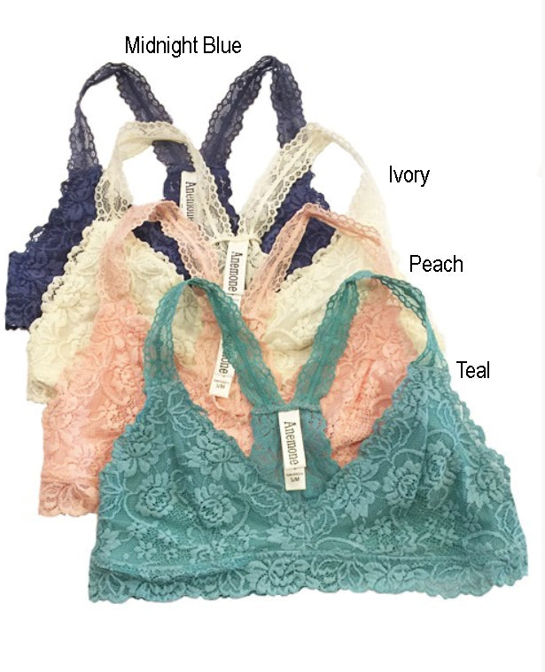 Racerback Lace Bralette with Thin Straps