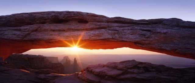 """Sunrise at Mesa Arch, Canyon Lands National Park, Utah"" by David Clack"