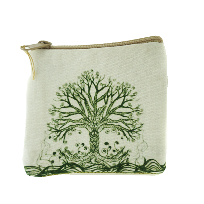 Nature's Tree of Life Coin Purse