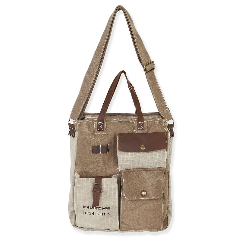 Big Shoulder Bag with Pockets