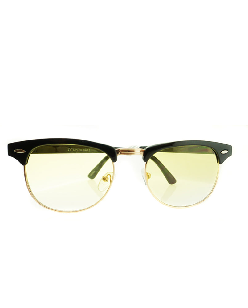 Color Lens Browline Sunglasses