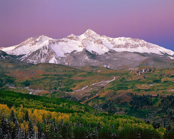 """Earth's Shadow, Wilson Peak, San Juan Mountains, Colorado"" by David Clack"