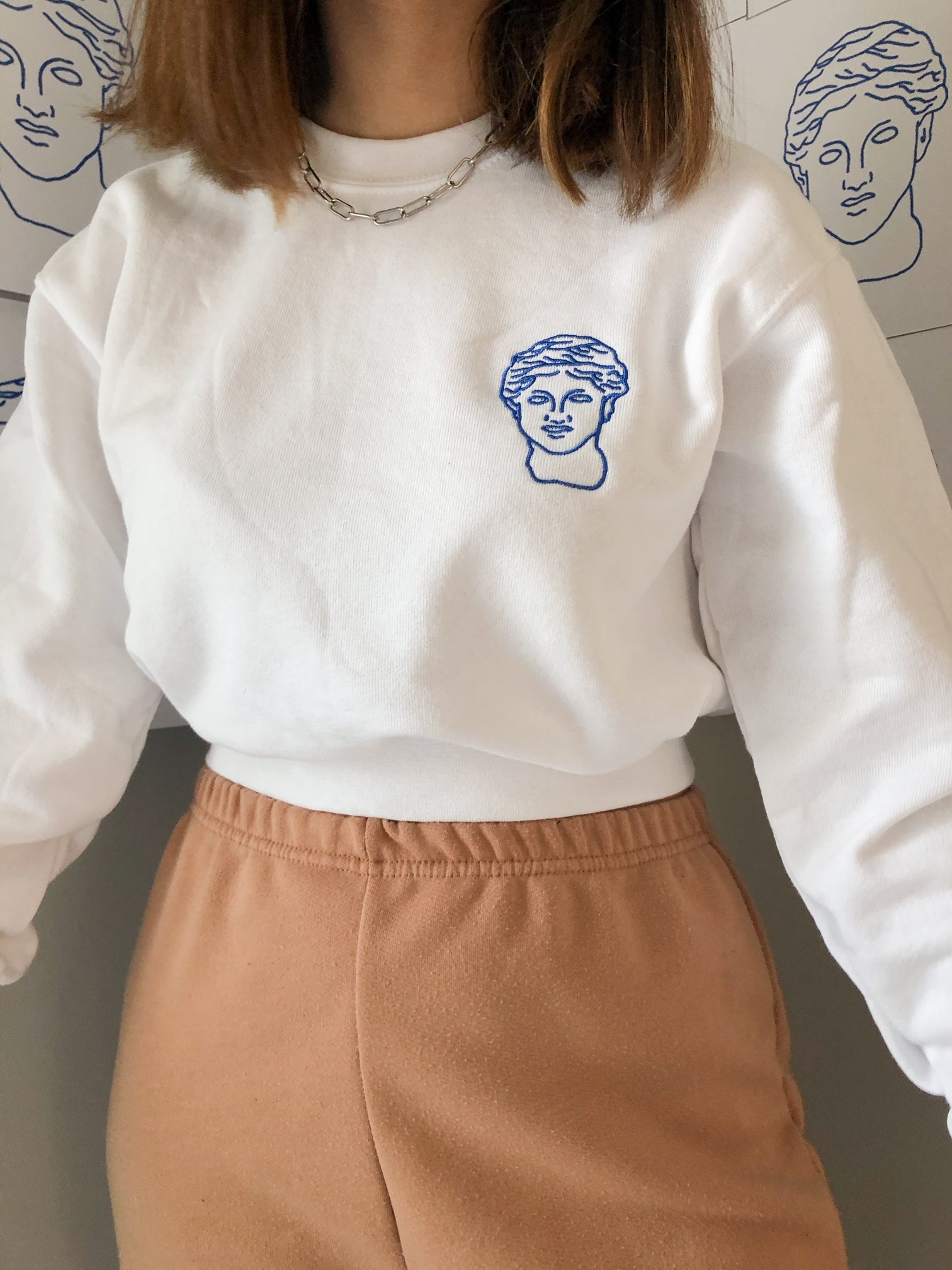 Classic Greek Crop Crewneck - Greek is an Attitude