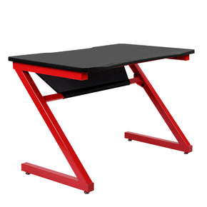 Artiss Gaming Desk Home Office Carbon Fiber Computer Table Racer Desks Black Red
