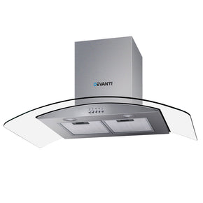 Devanti Range Hood 900mm Rangehood Kitchen Stainless Glass Canopy 90cm