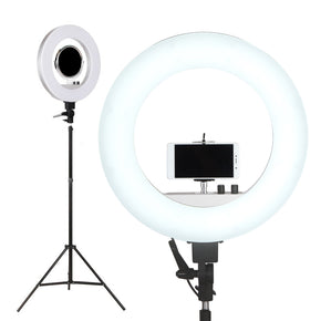 "Embellir 19"" 5600K LED Ring Light With Stand Dimmable Diva For Phone Camera DSLR"