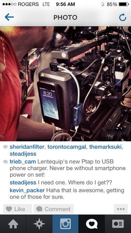 Adapter in use on set