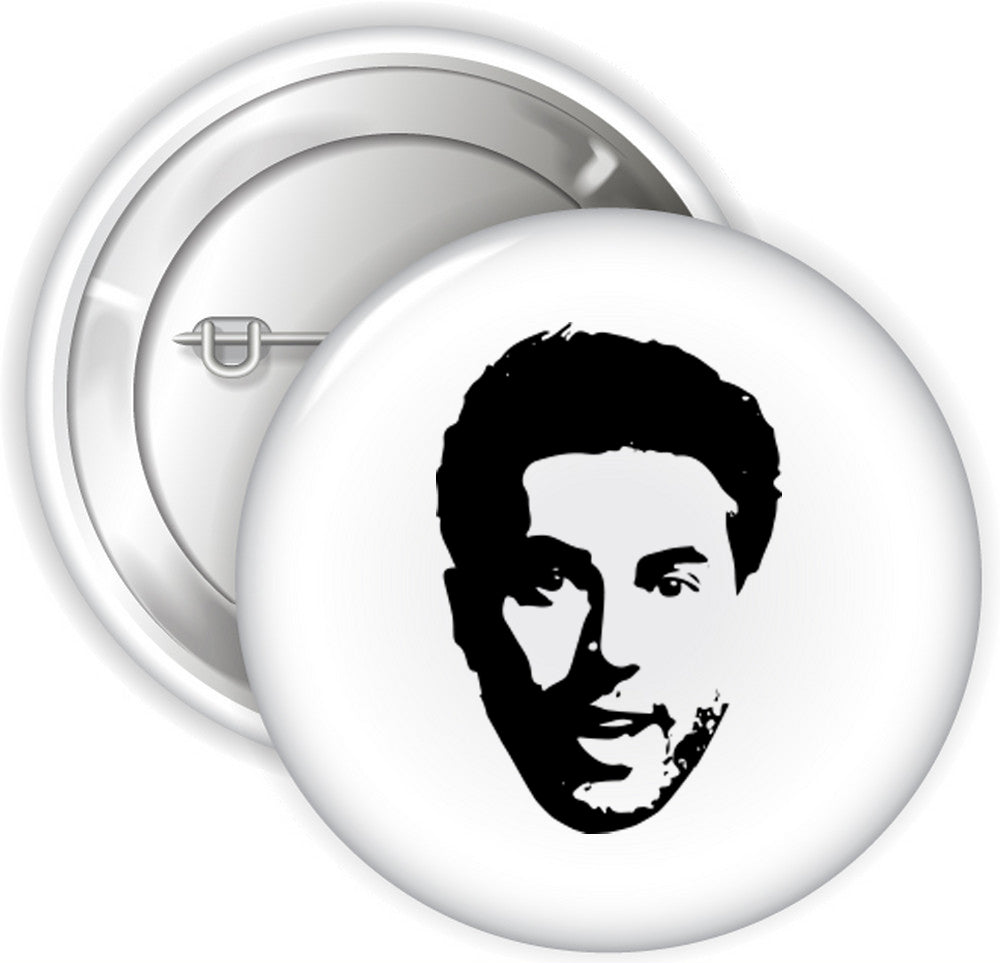 Adam Ray Face Pins - White