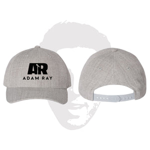 Adam Ray Mic Logo Classic Snapbacks - Heather Gray
