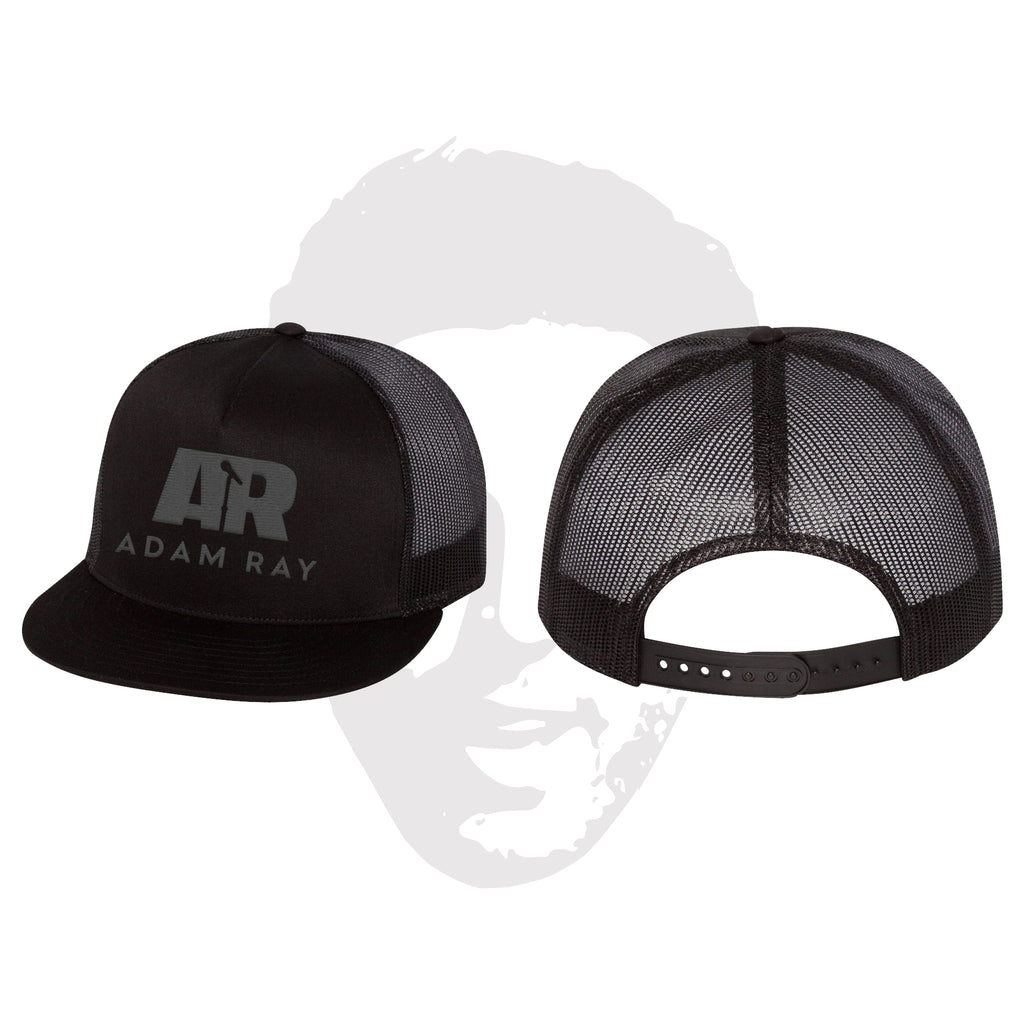 Adam Ray Mic Logo Classic Trucker Snapbacks - Black