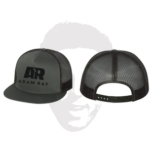 Adam Ray Mic Logo Classic Trucker Snapbacks - Charcoal
