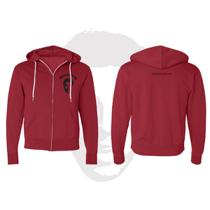 Classic Adam Ray - Zip Up Hoodie Red