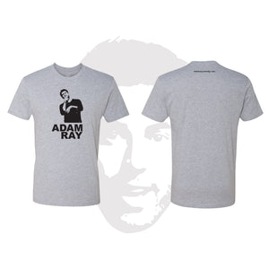 Adam Ray Silhouette - Mens Heather Gray Tee