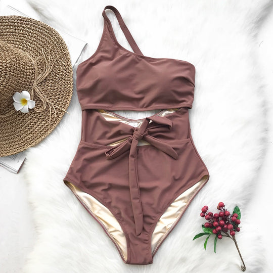 Air Of Romance Solid One-piece