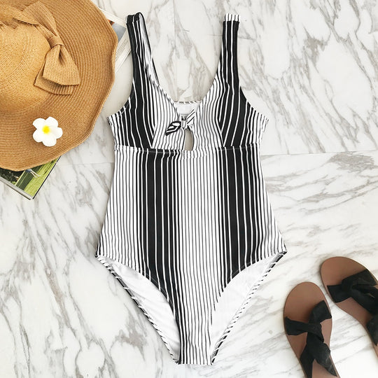 Perfectly Imperfect Striped One-Piece