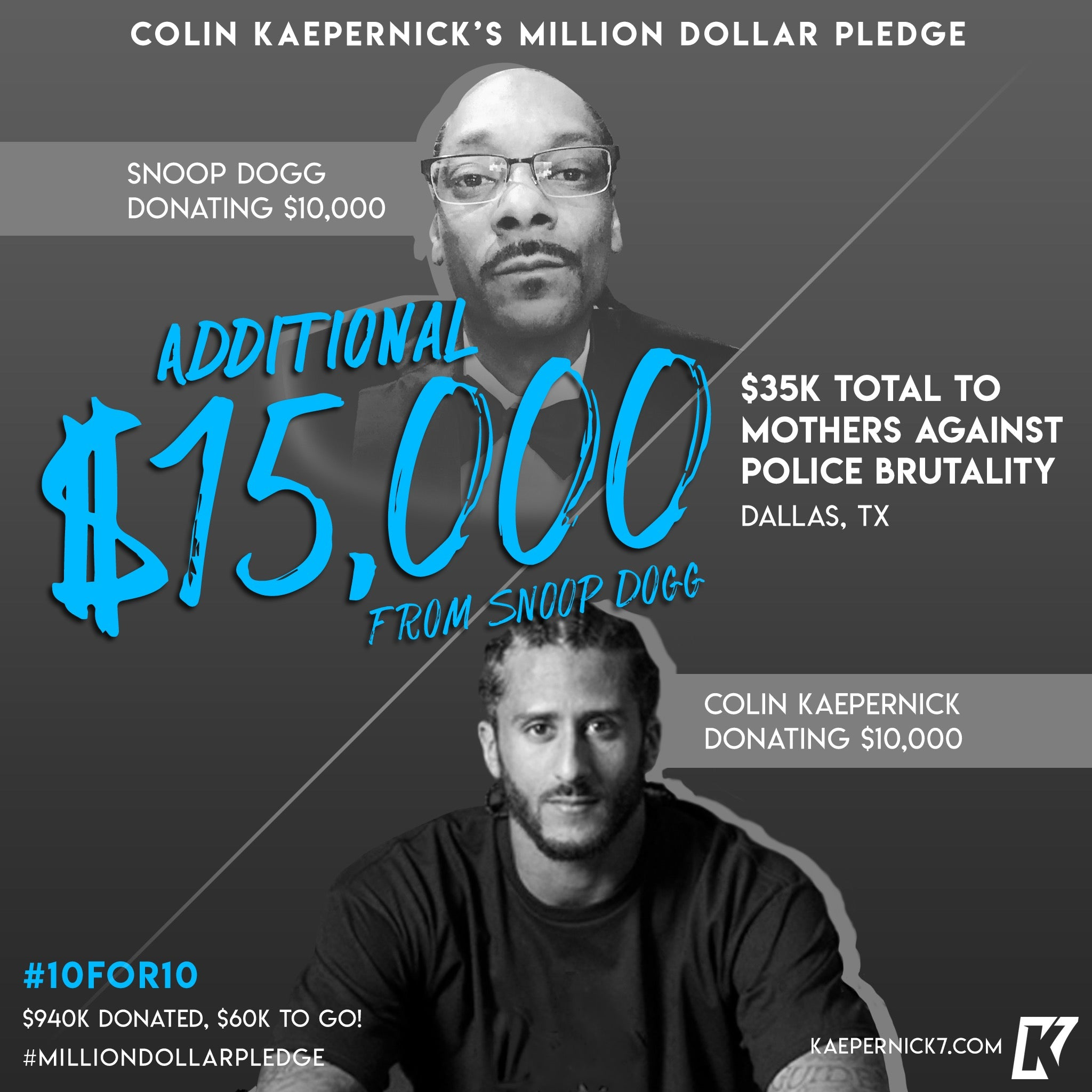 Colin Kaepernick x Snoop Dogg #10for10