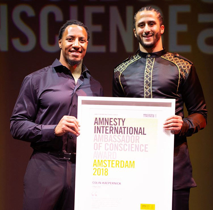 Colin Kaepernick Wins Amnesty International's Highest Honor