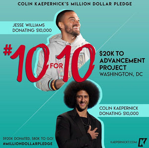 Colin Kaepernick x Jesse Williams #10for10