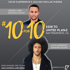 Colin Kaepernick x Steph Curry #10for10