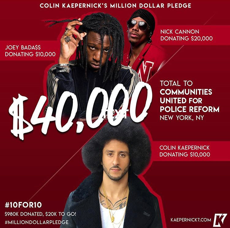 Colin Kaepernick x Nick Cannon x Joey Badass #10for10