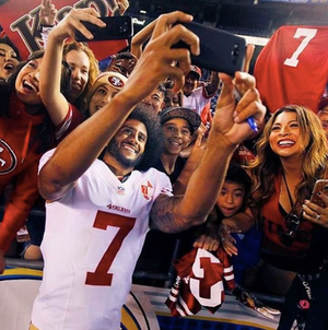 "Colin Kaepernick says 49ers fans showed ""Character"" this year"