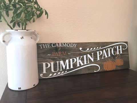 Pumpkin Patch Wood Sign