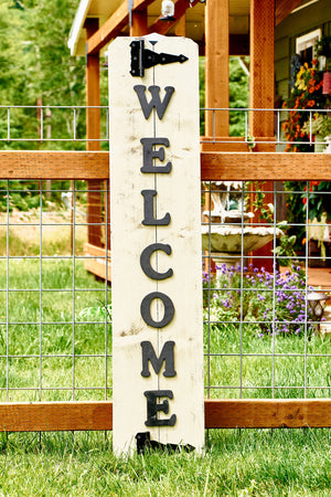 Large Wood Welcome Sign