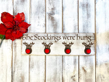 Load image into Gallery viewer, Christmas Stocking Reindeer Holder - Red Roan Signs | Custom Rustic Home Decor