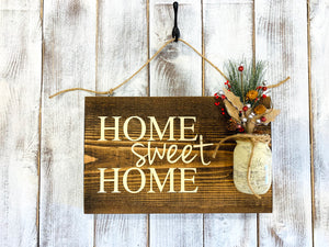 Rustic Front Door Wood Sign - Housewarming Gift