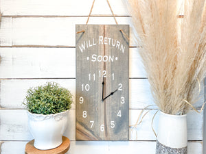 Adjustable Business Sign Clock