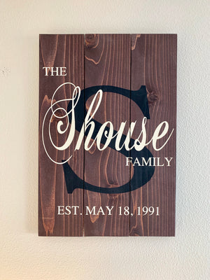 Wedding sign, last name sign, personalized name wood sign, family name sign