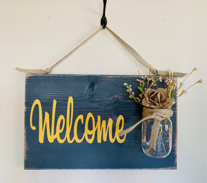 Country Farmhouse Welcome Sign - Country Farmhouse Decor