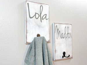 Personalized Towel Hangers