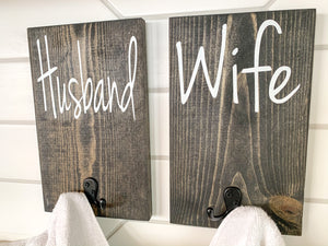 Husband & Wife Towel Holders