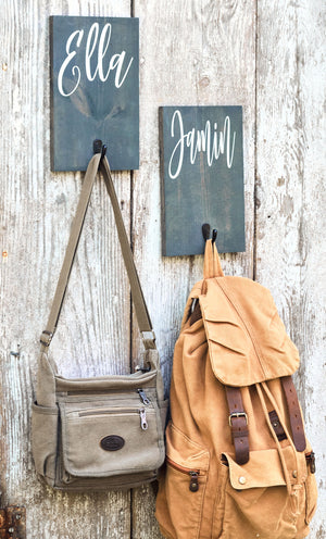 Personalized Towel and Backpack Hooks