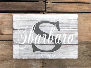 Rustic Farmhouse Established Wood Signs for the Family