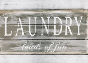 Large Laundry Sign - Rustic Laundry Sign - Oversized Sign - Red Roan Signs | Custom Rustic Home Decor