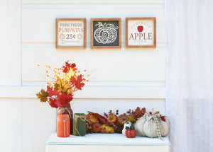 Fall Set Of 3 Signs
