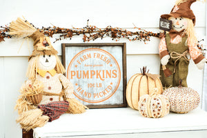 Farm Fresh Pumpkin Patch Fall Wood Sign