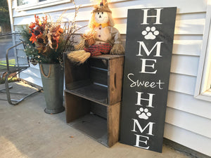 Home Sweet Home Sign Dog Lover Wood Sign - Red Roan Signs | Custom Rustic Home Decor