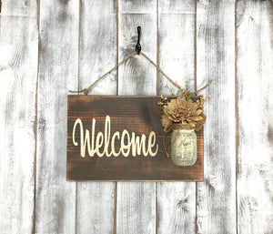 Farmhouse Country Decor - Welcome Sign for your Home - Gift for Mom - Red Roan Signs | Custom Rustic Home Decor