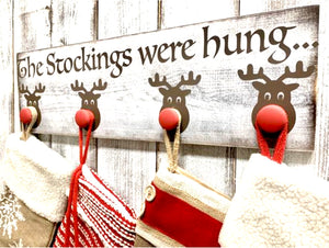 Christmas Stocking Reindeer Holder