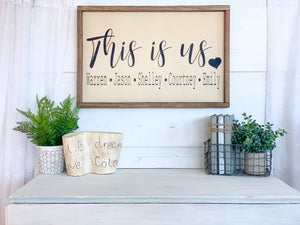 This is us Family Name Wood Sign