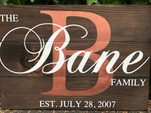 Load image into Gallery viewer, Custom Last Name Family Sign - Red Roan Signs | Custom Rustic Home Decor